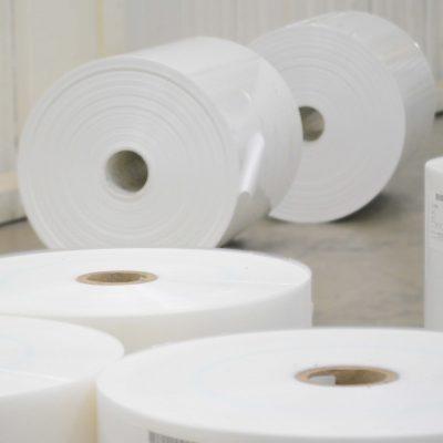 Image of multiple Polyethylene, PE, Film rolls