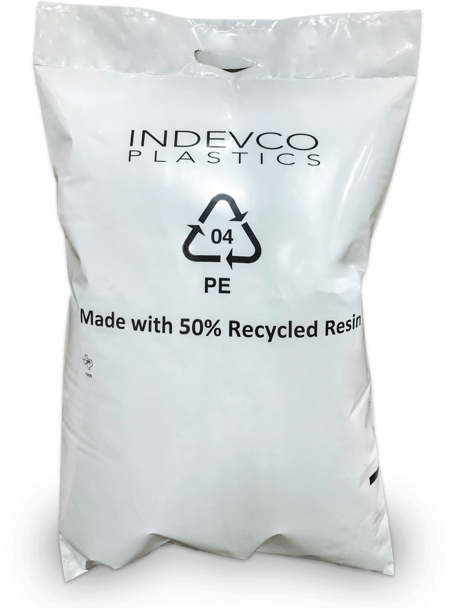 Open Mouth Polybag with 50% PCR
